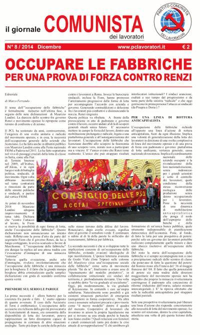 Il Giornale Comunista dei Lavoratori - Dicembre 2014