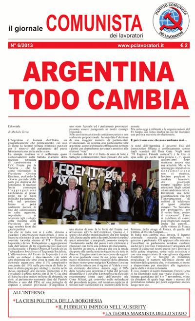 Il Giornale comunista dei lavoratori - Dicembre 2013